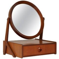 Norwegian Talgos Mobelfabrikk Teak Tilting Vanity Mirror, circa 1950