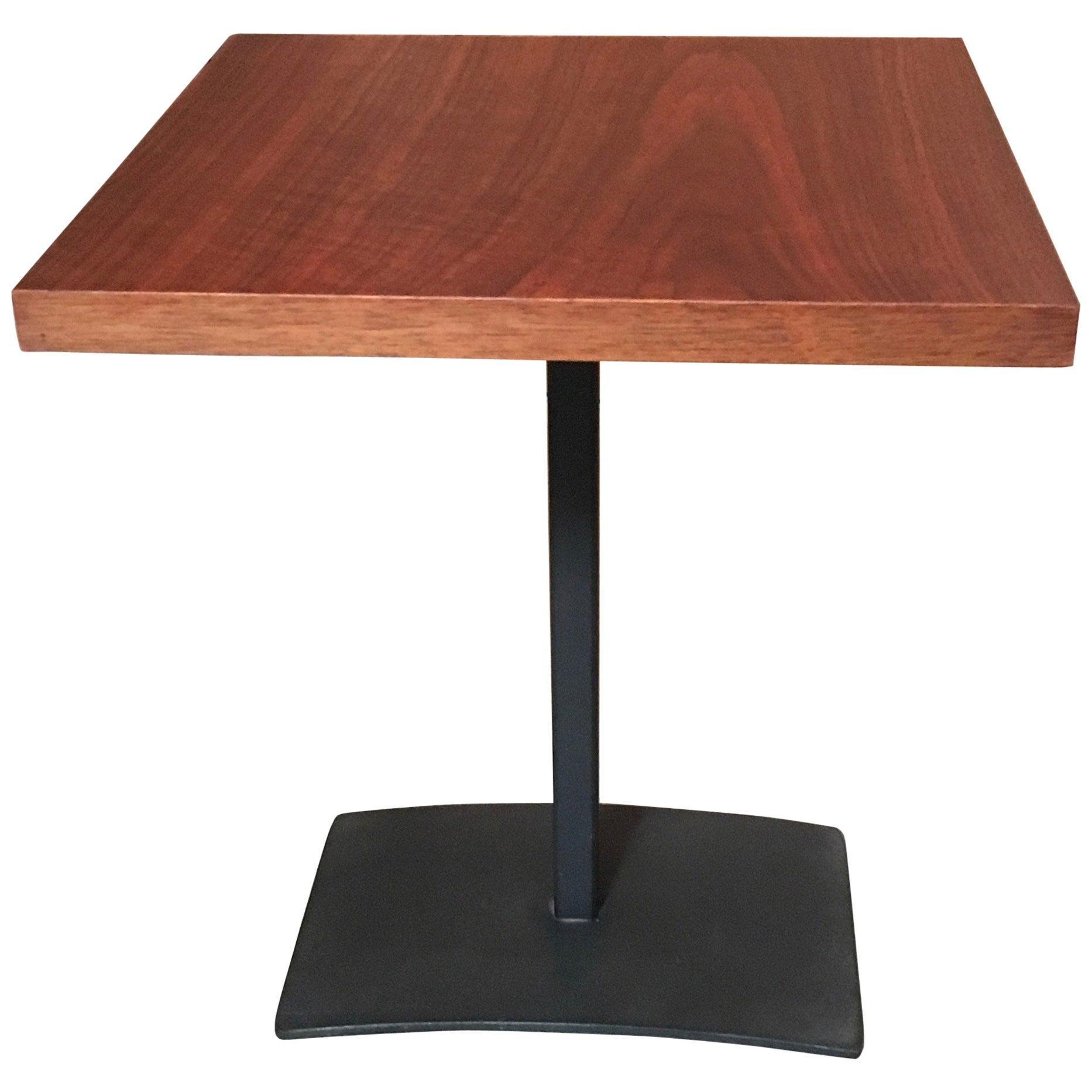 Walnut and Steel Milo Baughman Side Table