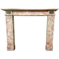 Antique French Empire 19th Century Marble Fireplace Mantel Surround
