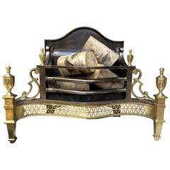 Antique Reproduction Brass Fire Basket