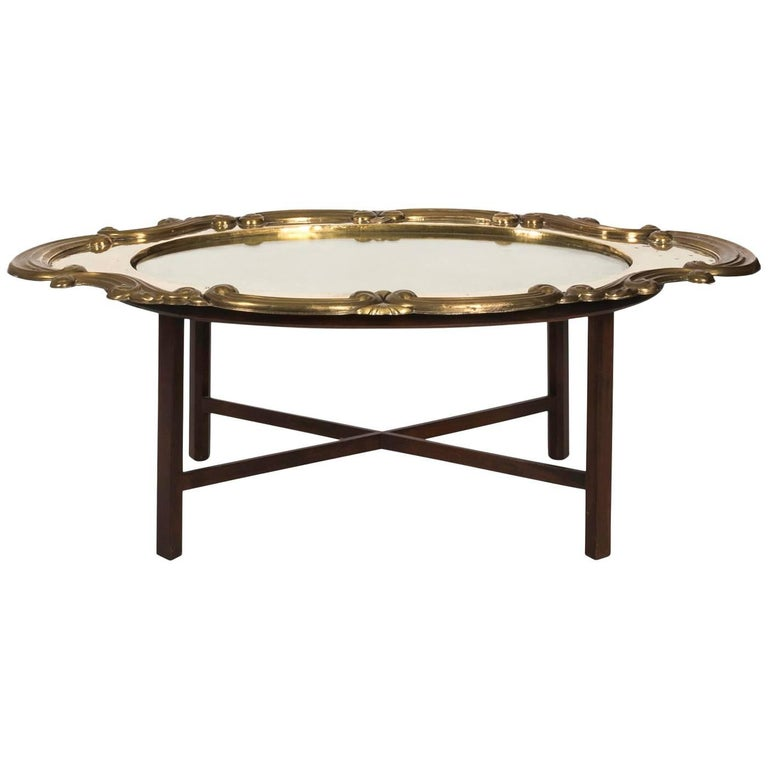 Mahogany wooden base coffee table for sale at 1stdibs for Coffee tables 30cm wide