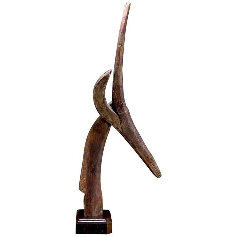 Dance Head Ornament Representing an Antelope Head, Burkina Faso, Africa For Sale