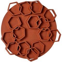 Hexagon Ceramic Wall Sculpture by Ben Medansky