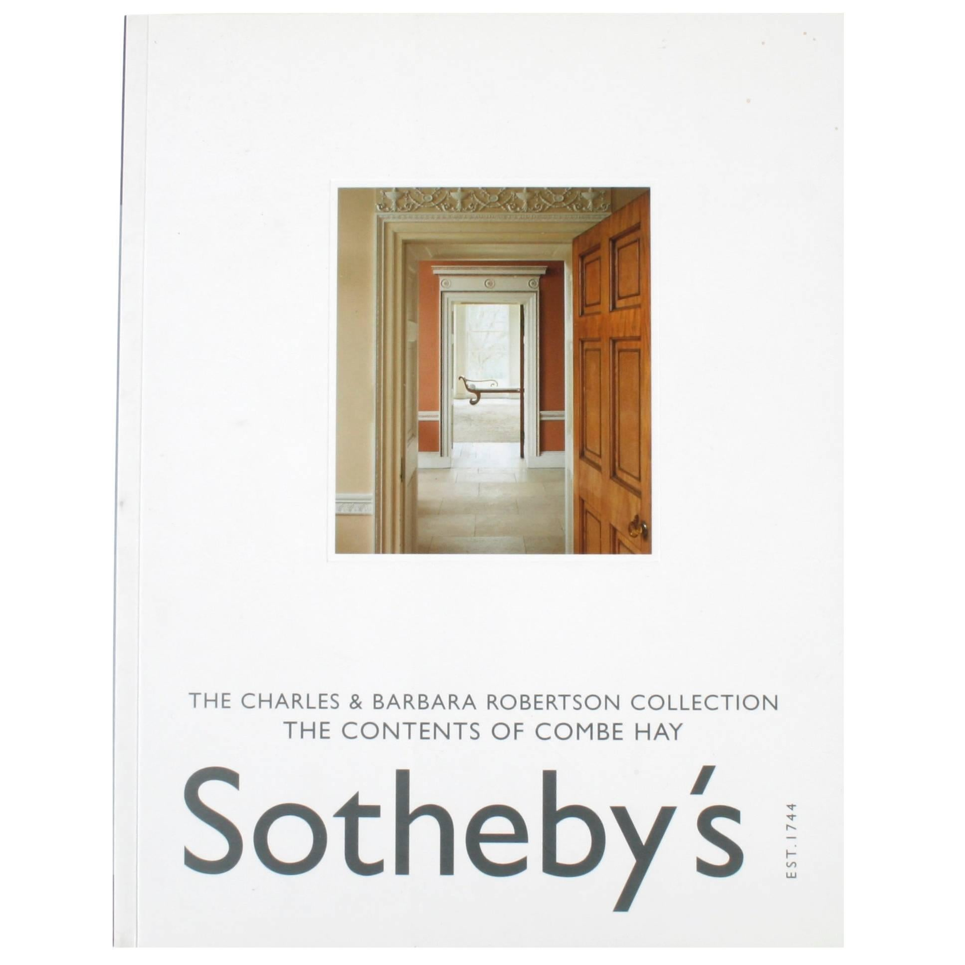 Sotheby's; Charles & Barbara Robertson Collection: Contents of Combe Hay, Vol II