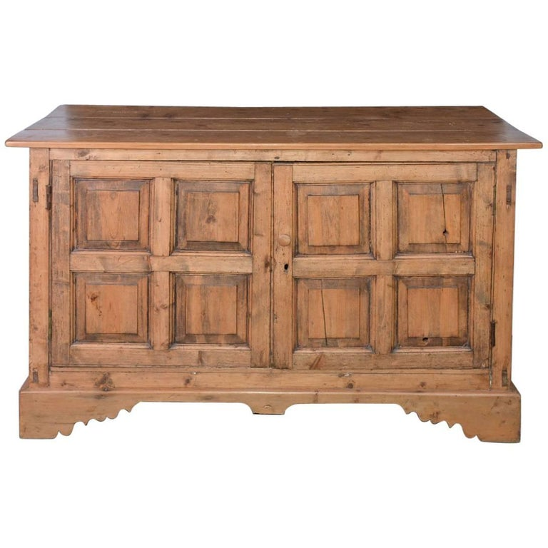 Large Antique Pine Sideboard or Cabinet For Sale