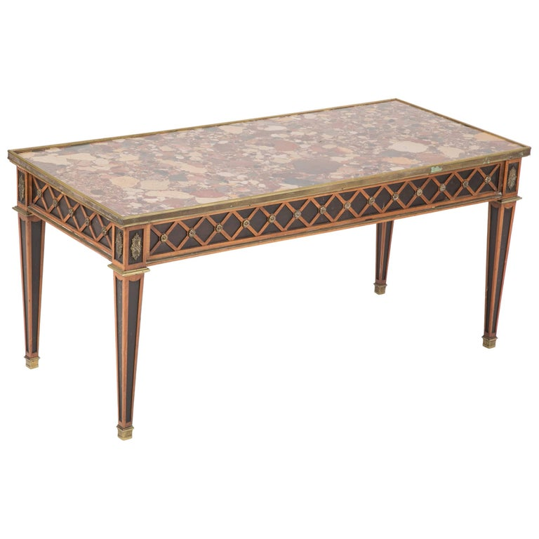 Louis XVI Style Coffee Table by Jansen For Sale