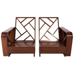 Pair of 1970s Mid-Century Modern Lounge Chairs