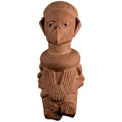 Rare Nok Terracotta Shaman in Bird Costume, Nigeria, Africa, 300-100 BC