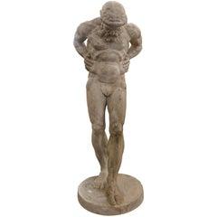 19th Century Plaster Sculpture of Atlas, France