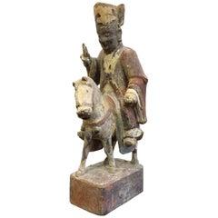 "18th Century Buddha Statue ""Monk Tang"""