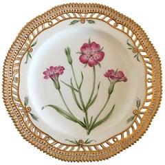 Royal Copenhagen Flora Danica Luncheon Plate #3554 with Pierced Border
