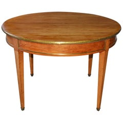 Napoleon III Round Occasional Table with Brass Trim