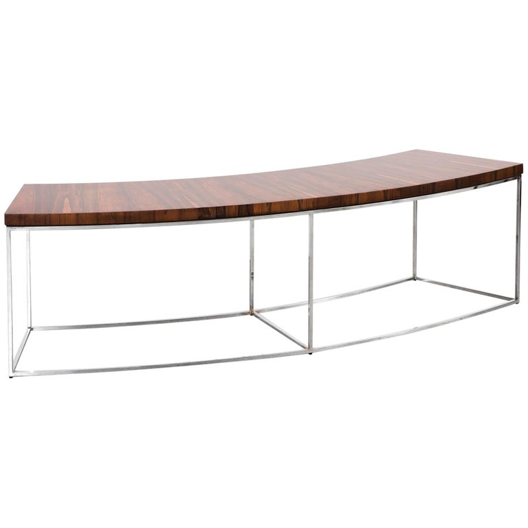 Milo Baughman Mid-Century Modern Rosewood Bench, Sofa Table For Sale