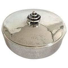 Hans Hansen Lidded Box in Sterling Silver by Karl Gustav Hansen