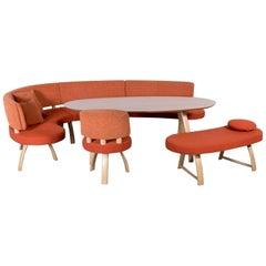 K+W Silaxx Kitchen Set Bench Chair Table Couch Sofa Orange Modern