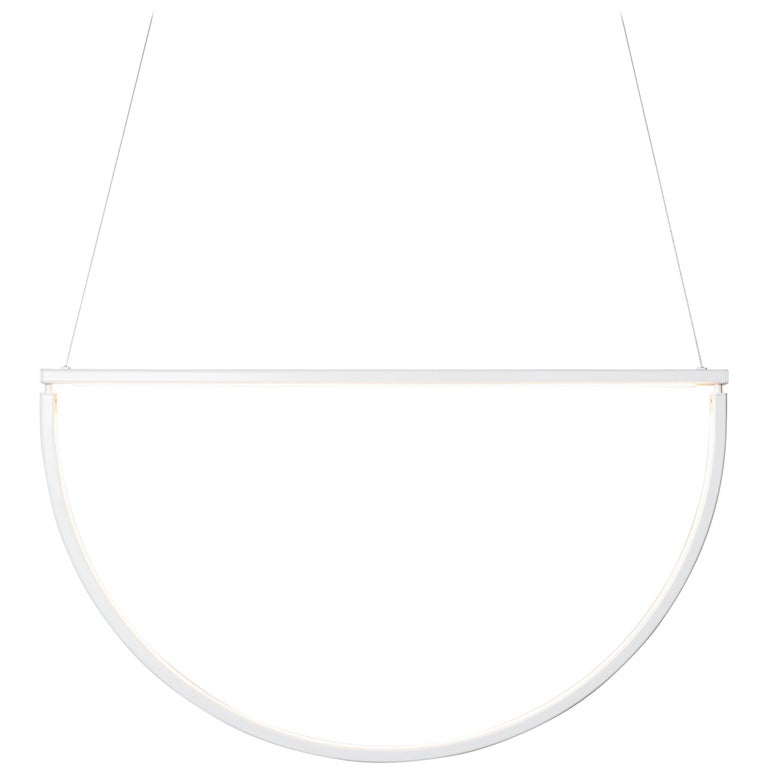 Chord Chandelier in White by Alexallen Studio For Sale