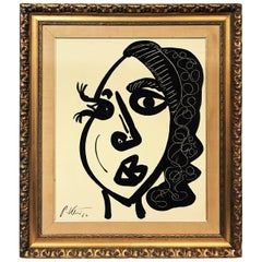 Peter Keil Abstract Oil Portrait 'Lady Love from Spain'