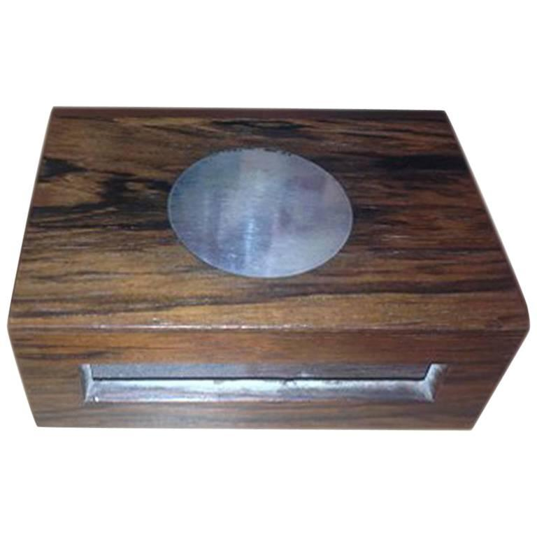 88299ef50ca23 Hans Hansen Sterling Silver Rosewood Match Stick Box #2 For Sale at ...