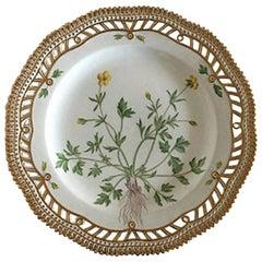 Royal Copenhagen Flora Danica Luncheon Plate with Pierced Border #3554