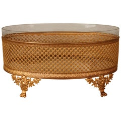 French Empire Cut Crystal Gilt Bronze Mounted Centerpiece