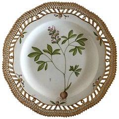 Royal Copenhagen Flora Danica Luncheon Plate #20/3554 with Pierced Border