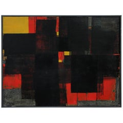 Gunnar S. Gundersen Abstract Oil on Canvas, 1957