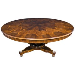 18th Century Style Round Walnut Table Designed by Renaissance Collection