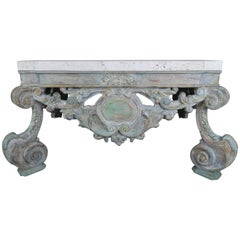 French Carved Louis XV Style Coffee Table
