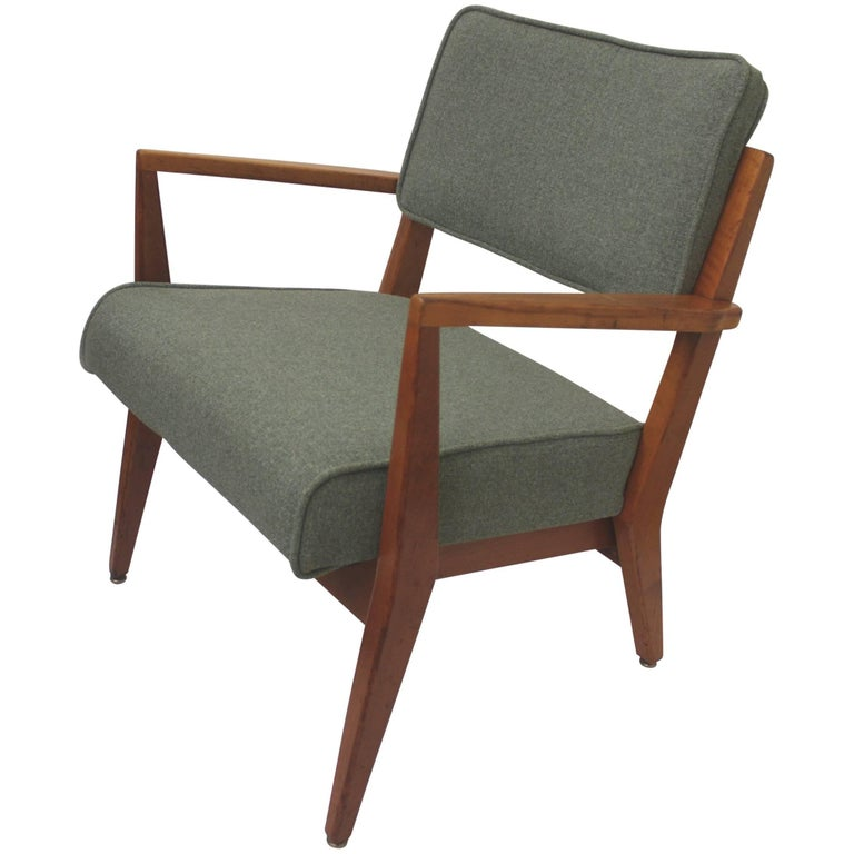 Vintage 1950s Mid-Century Modern Cherry Lounge Side Chair