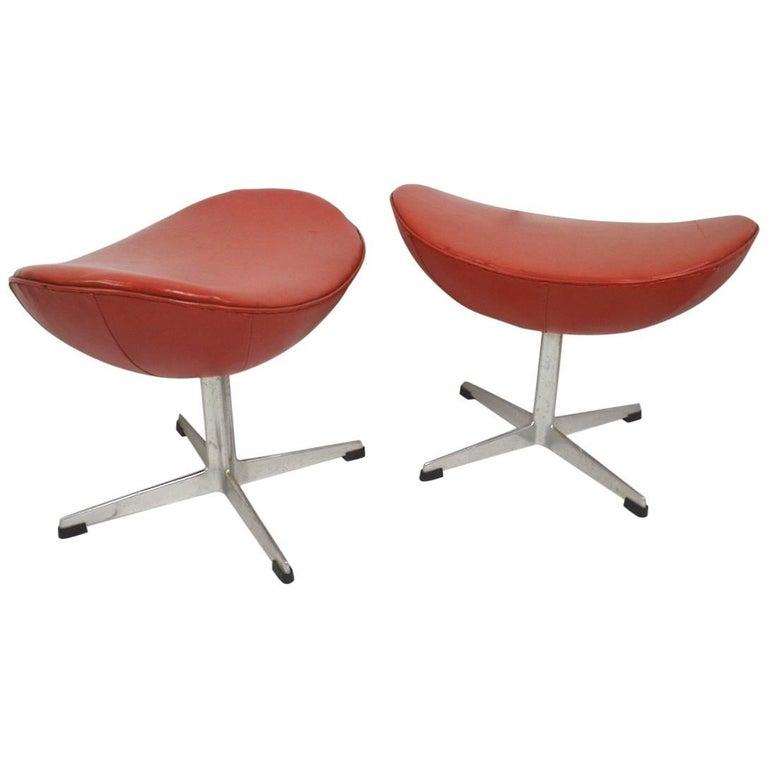 Arne Jacobsen Ottoman Footrests for Fritz Hansen