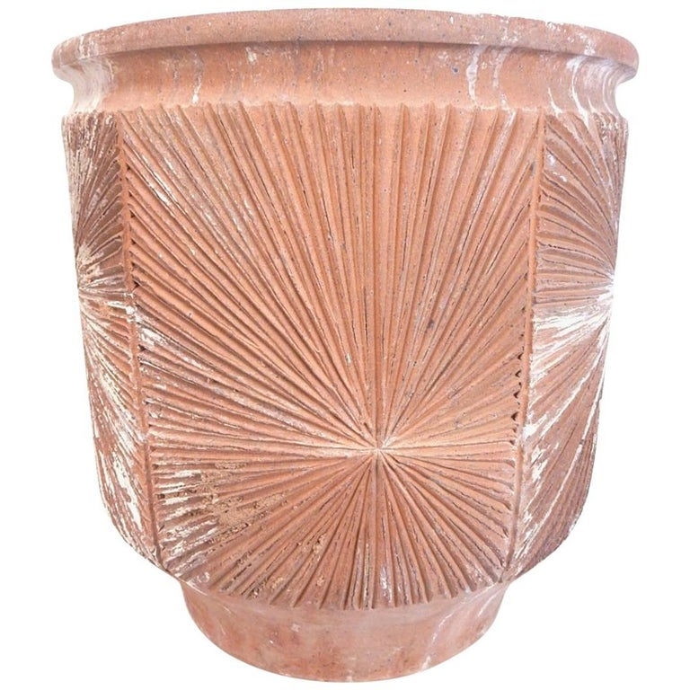 Large Midcentury David Cressey Robert Maxwell Starburst Art Pottery Pot