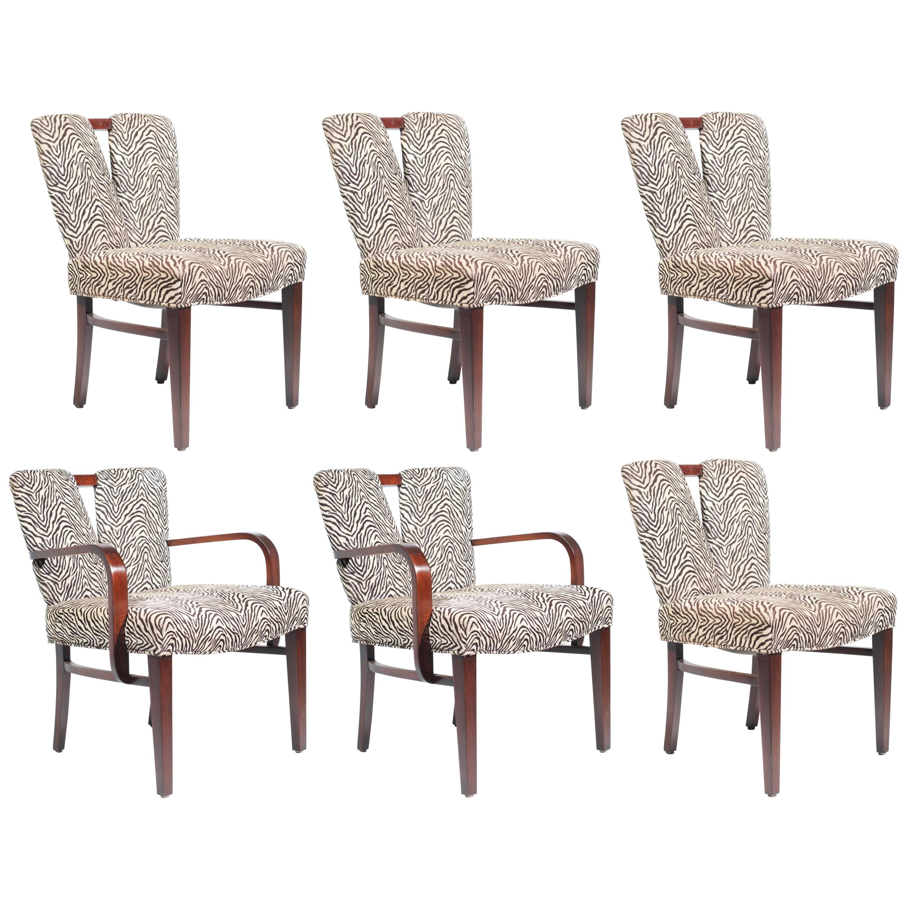 """Set of Six Paul Frankl for Johnson """"Corset"""" Dining Chairs"""