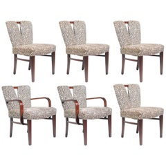 "Set of Six Paul Frankl for Johnson ""Corset"" Dining Chairs"