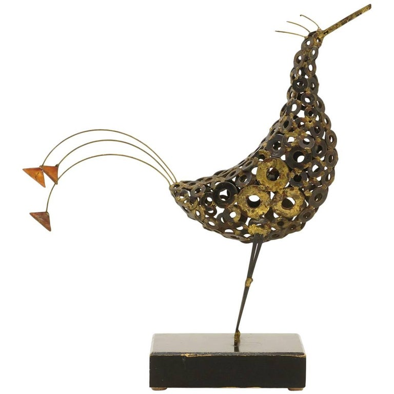 Tabletop Bird Sculpture in the Manner of Curtis Jere