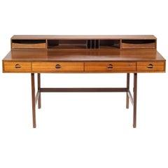 Jens Quistgaard for Løvig Walnut Flip-Top Executive Desk, 1966