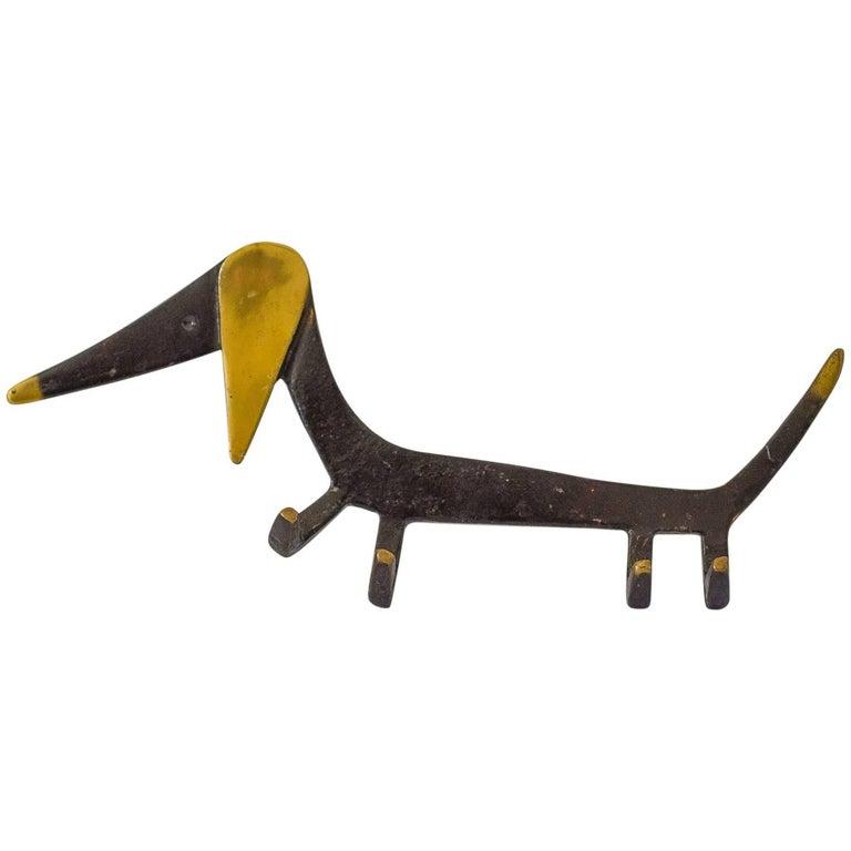 Walter Bosse Key Hanger Dog Motive