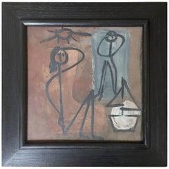 Jacques Innocenti, Framed Ceramic Tile