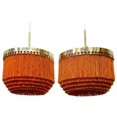Pair of Hans-Agne Jakobsson Ceiling Lamp Model T601/M, 1960s
