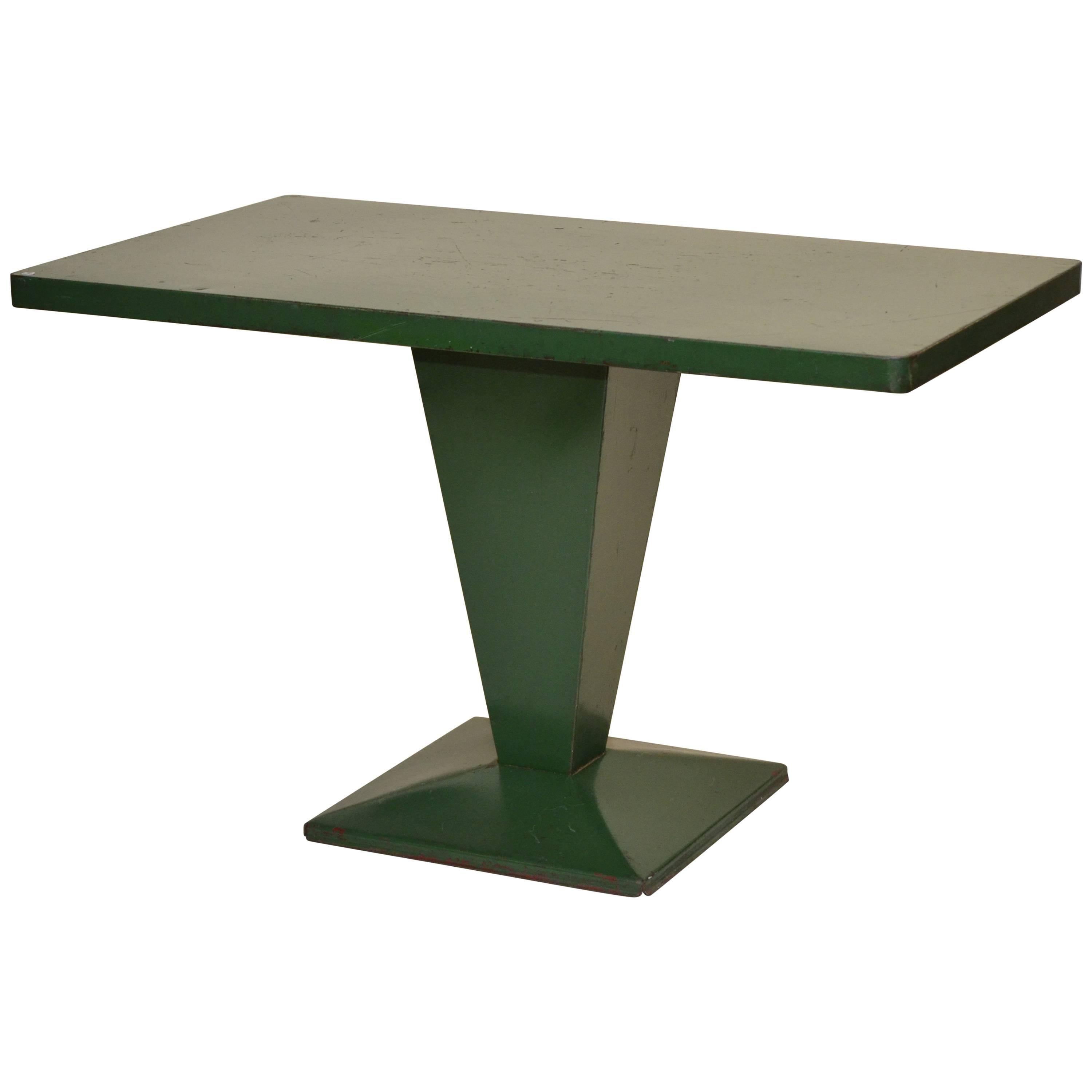 Xavier pauchard french industrial dining room furniture Ideas 1950s Xavier Pauchard Green Rectangular Metal Bistrot French Table By Tolix For Sale 1stdibs 1950s Xavier Pauchard Green Rectangular Metal Bistrot French Table