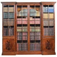 Figured Mahogany Four-Door Bookcase