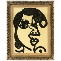 Peter Keil Expressionist Oil Portrait of a Woman