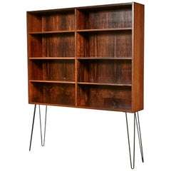 Danish Rosewood Bookcase with Iron Legs
