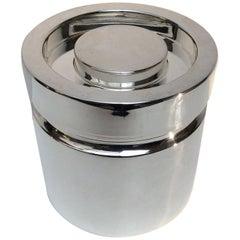 Midcentury Silver Plate Ice Bucket by Lino Sabattini