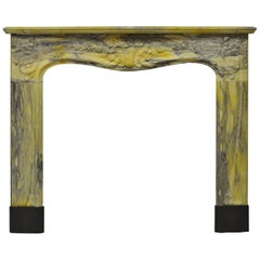 Colorful Marble Louis XV Fireplace Mantel