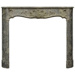 Rare 18th Century Dutch Louis XV Fireplace Mantel