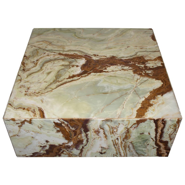 Large Onyx Coffee Table, 1960s For Sale
