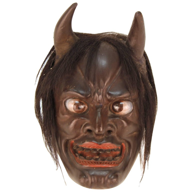 Japanese Edo Period Ike Mask 'Devil Face' For Sale
