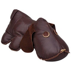 Vintage Leather Puppy Dog, 1970s