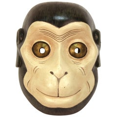 Japanese Showa Period Noh Theater Mask of Saru the Monkey