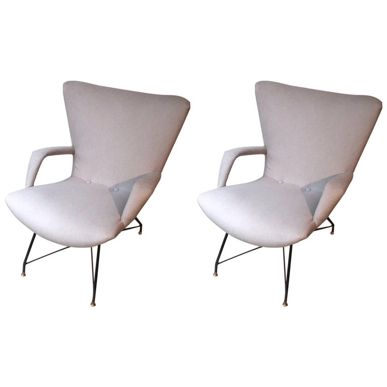 Pair of Armchairs by Martin Eisler and Carlo Hauner